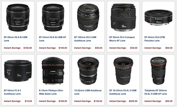 Canon Lens And Speedlite Rebates