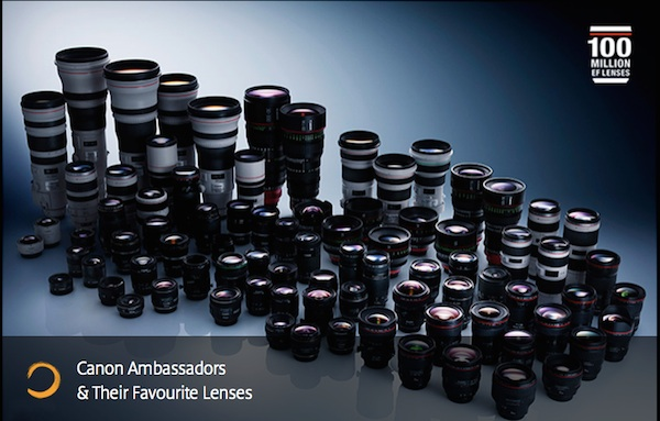 100 Million EF Lenses