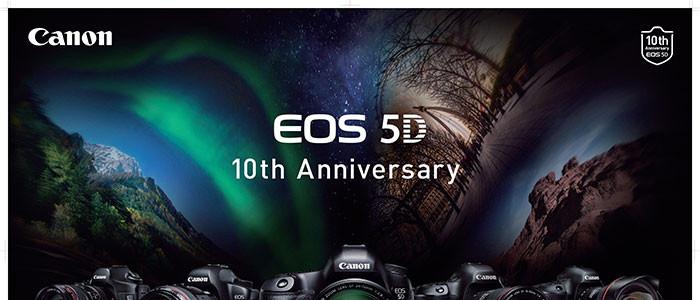 Canon EOS 5D Series Celebrates 10 Year Anniversary