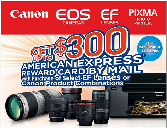 Canon Lens Rebates Extended Until July 4th