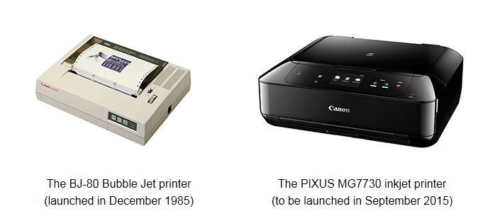 Canon Celebrates 30th Anniversary Of Launch Of First Bubble Jet Inkjet Printer