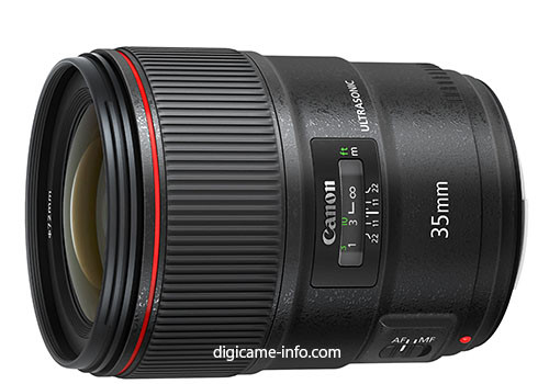More Canon EF 35mm F/1.4L II Specs And New Image Leaked