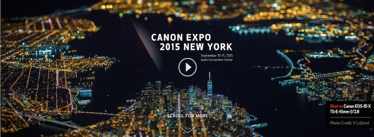 Canon EXPO 2015 New York Registrations Open