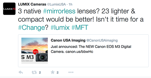 Panasonic Tries To Poke Fun On Canon EOS M3, Gets Facts Wrong