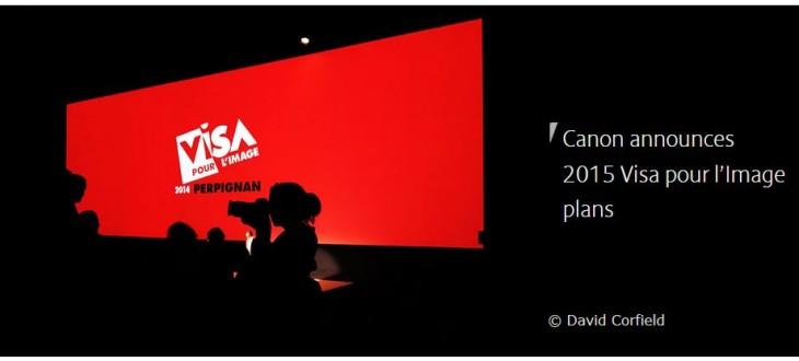 Canon Announces 2015 Visa Pour L'Image Plans