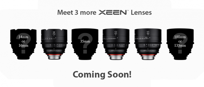 Three More Samyang/Rokinon XEEN Cine Lenses Coming?