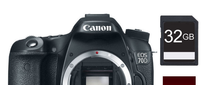 Canon EOS 70D Bundle Deal, PRO-100 Printer, 32GB, Bag – $599 (after $350 MIR)
