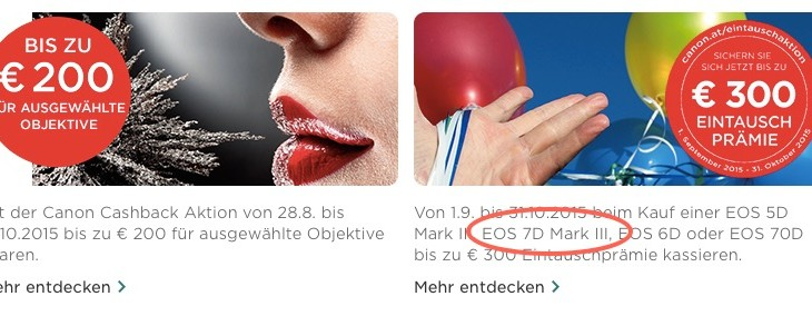 Canon EOS 7D Mark III Appears On Canon Austria Site (but It's A Typo)