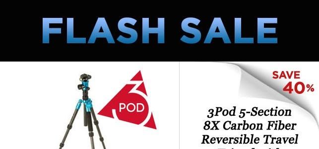 Adorama Flash Sale: 3Pod Carbon Fiber Tripod With Ball Head At $89.95 (reg. $150)