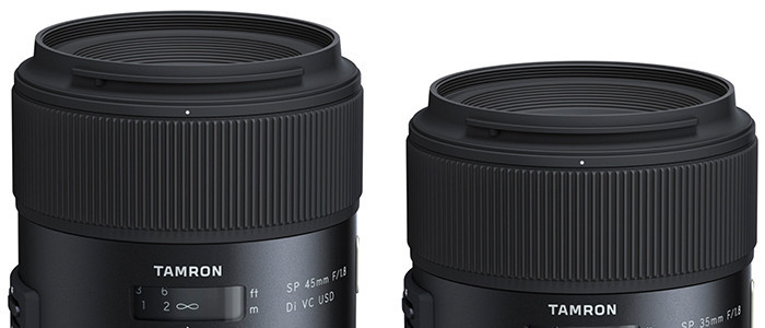 More Tamron SP 35mm F/1.8 Di VC USD And SP 45mm F/1.8 Di VC USD Info And Pre-order Options