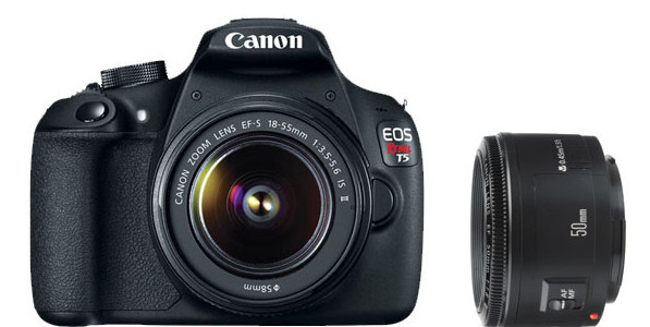 Refurbished Canon Rebel T5 Deal, Bundled With 18-55mm IS II And 50mm F/1.8 – $241 (reg. $541)