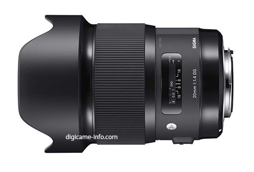 Sigma 20mm F/1.4 DG HSM Lens Image And Specs Leaked