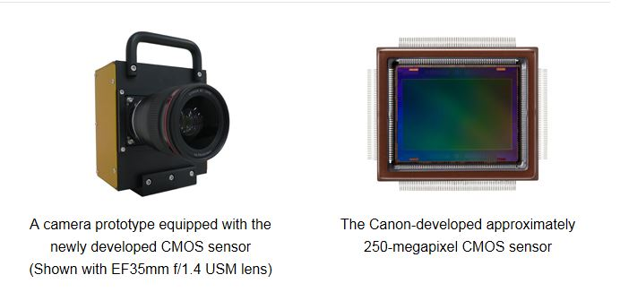 canon 250mp sensor