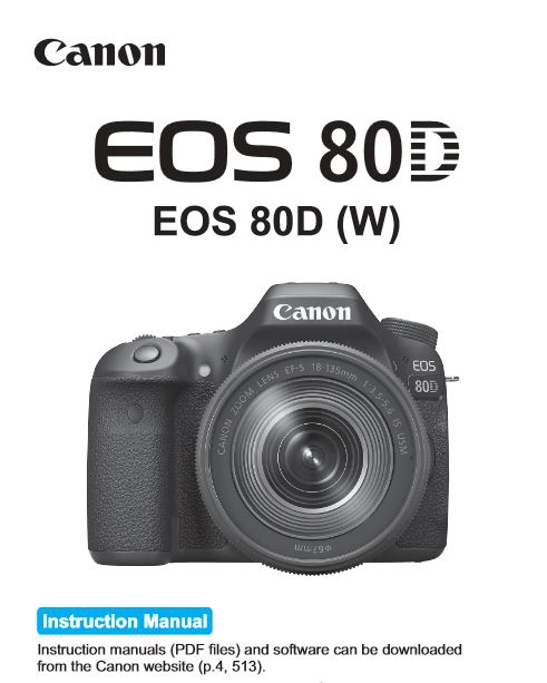 canon eos 80d user manual available for download canonwatch rh canonwatch com canon manual settings canon manual slr cameras