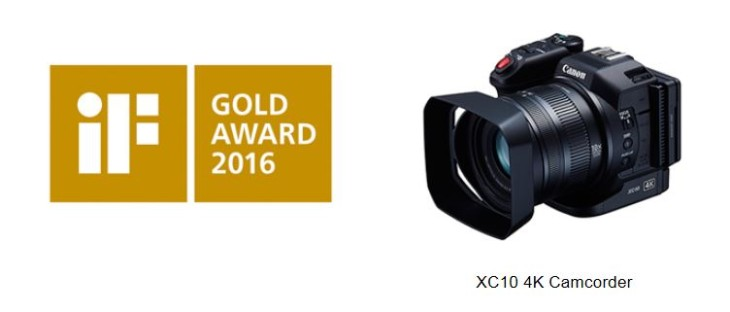 Canon Designs Recognized With IF Design Awards For 22nd Consecutive Year With XC10 4K Camcorder Winning Top Honors