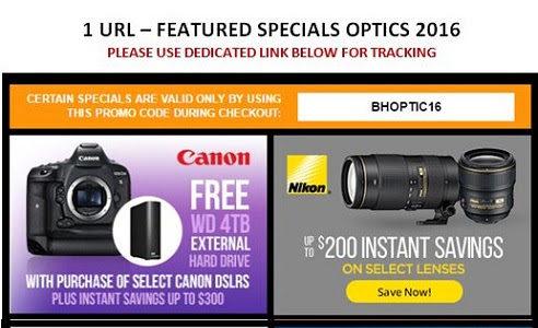 Many Deals For OPTICS 2016 At B&H Photo
