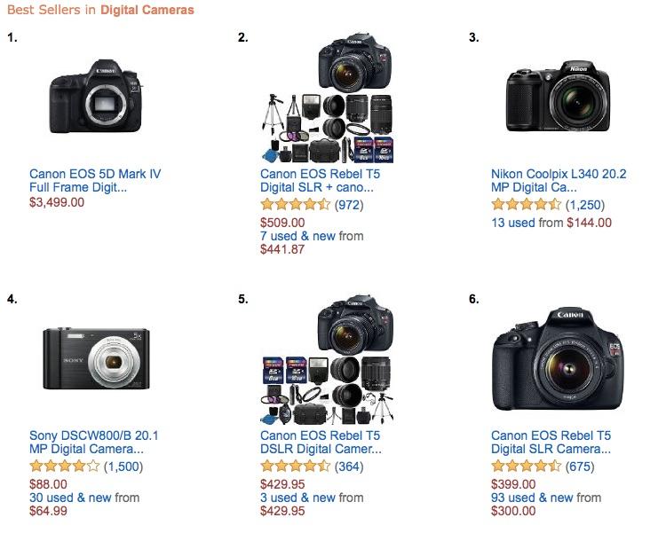 Canon EOS 5D Mark IV best selling digital camera on Amazon US ...