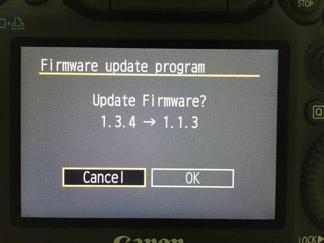 How to downgrade Canon firmware (step-by-step tutorial by Magic