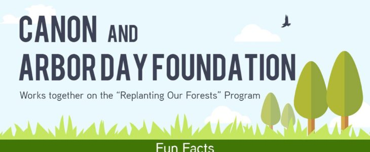 """Canon U.S.A And Arbor Day Foundation Continue Partnership With Canon's Support Of The Foundation's """"Replanting Our Forests"""" Program"""