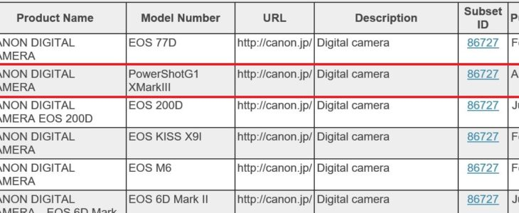 Canon PowerShot G1 X Mark III Shows Up At Certification Authority, To Be Announced Soon