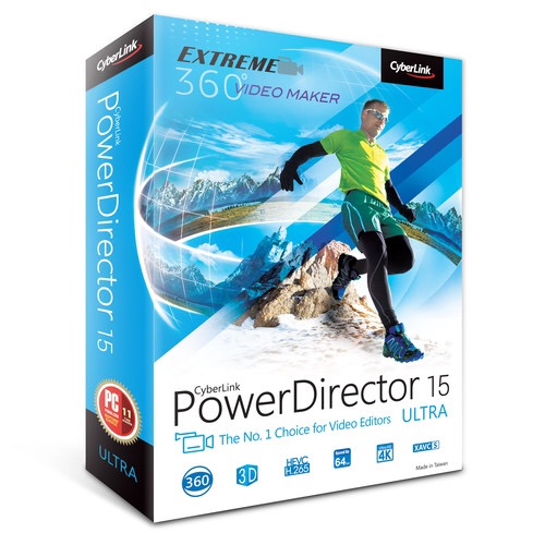 Deal: CyberLink PowerDirector 15 Ultra (DVD) – $39.95 (reg. 74.95)