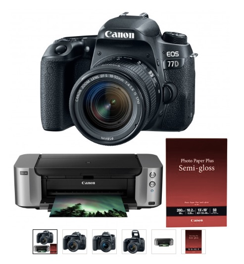 Hot Deal: Canon EOS 77D With EF-S 18-55mm F/4-5.6 IS STM And PIXMA Pro-100 – $599 (after MIR, Reg. $949)
