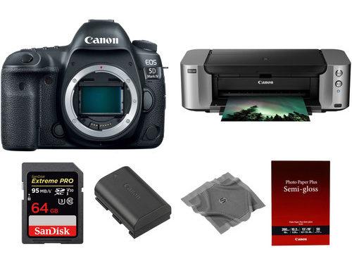 Canon EOS 5D Mark IV Bundle Deal, PIXMA PRO-100, SanDisk 64GB, Spare Battery – $3249