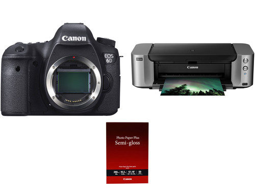Canon EOS 6D Bundle Deal, With PIXMA Pro-100 & Photo Paper – $1349