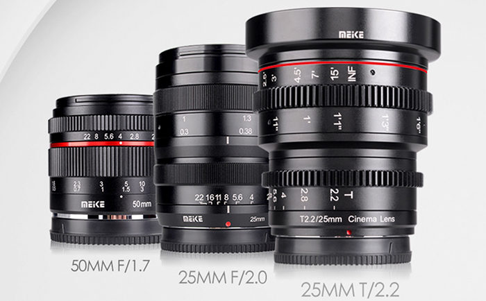 Meike Set To Announce New 50mm F/1.8, 25mm F/2, And 25mm T2.2 Cine Lenses For Mirrorless Cameras
