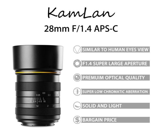 This Is The Upcoming Kamlan 28mm F/1.4 Lens For Canon EOS M Systems (and Other MILCs)