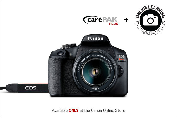 Deal: Canon Rebel T7 & EF-S 18-55mm IS II & Online Photo 101 Course & 13 Month Damage Protection – $499.99