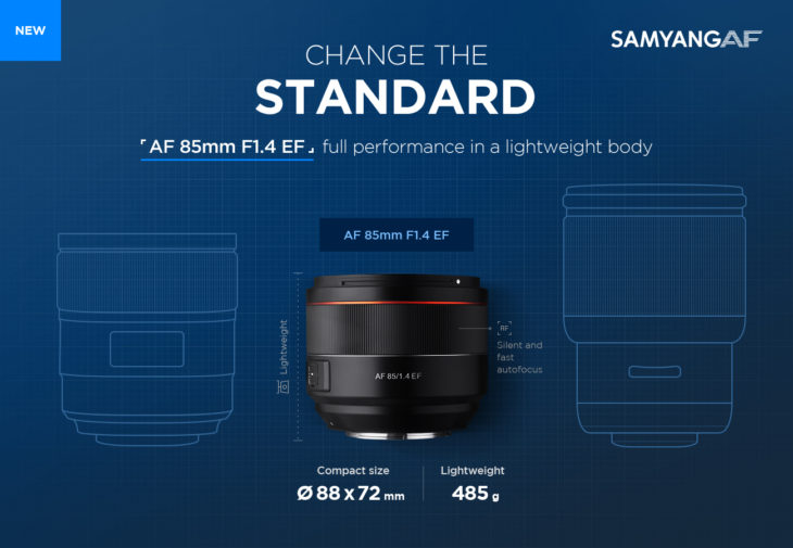 This Is The Samyang AF 85mm F/1.4 EF For Canon Mounts, Announcement Soon