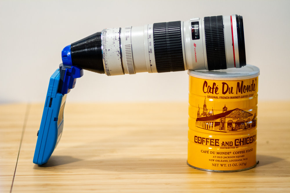 This Photographer Mounted A Canon EF 70-200mm 1.4x Lens On A Nintendo Game Boy