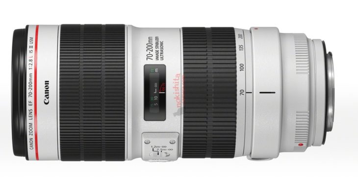 This Is The New Canon EF 70-200mm F2.8L IS III Lens (leaked Image)