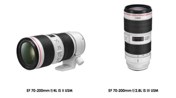 Canon EF 70-200mm F/2.8L IS III & EF 70-200mm F/4L IS II Basic Specifications And A Swedish Press Release