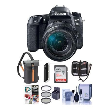 Deal: Canon EOS 77D & 18-135mm IS STM, Memory, Filters, Bag, More – $1049