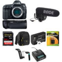Canon EOS 5D Mark IV Video Kit (battery Grip, 64GB Memory, External Mic, More Stuff) – $3,249.95