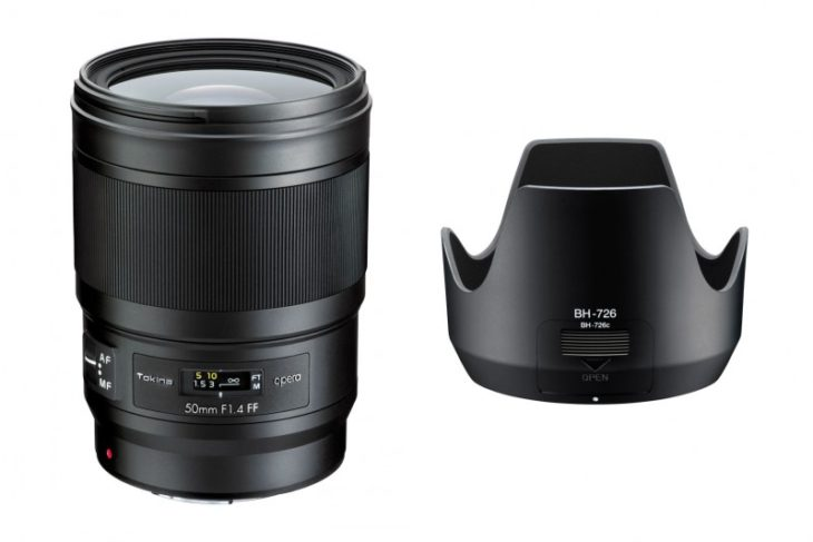 Tokina Opera 50mm F/1.4 FF Officially Announced