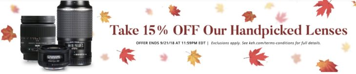 Save Up To 15% On Selected Lenses At KEH (today Only)
