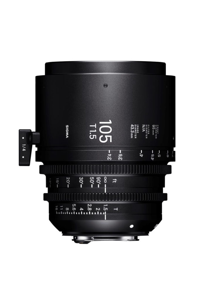 Sigma Adds 3 Lenses To Cine Lens Lineup (28mm T1.5 FF, 40mm T1.5 FF, 105mm T1.5 FF)