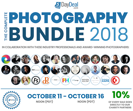 The 5DayDeal 2018 Photography Bundle Is Now Live (and It's Just $89)