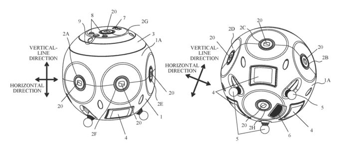 Canon Patent Application For 360 Degree Camera With 8 Zoom Lenses
