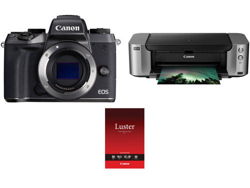 Canon EOS M5 Bundle With PIXMA Pro-100 Printer On Sale At $589