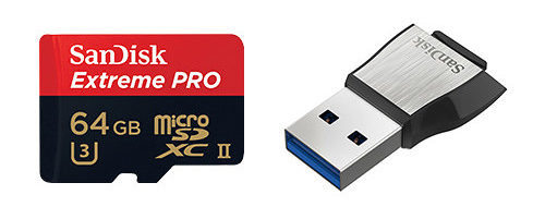Save On SanDisk 64GB & 128GB Extreme PRO UHS-II MicroSDXC Memory Cards With USB 3.0 Adapter