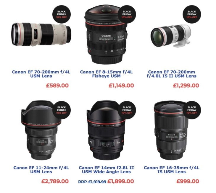 UK Black Friday: Save 15% On Canon Lenses, And More Black Friday Discounts