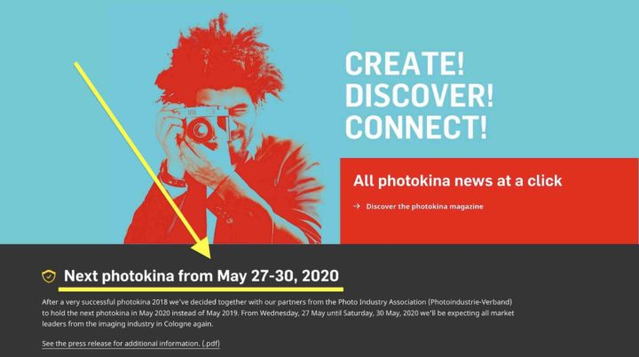 Photokina 2019 Has Been Cancelled, Comes Back In 2020