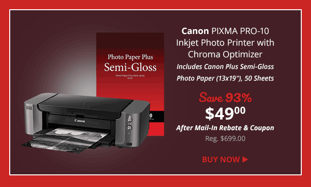 Hot Deal: Canon PIXMA PRO-10 Professional Inkjet Photo Printer – $49 (reg. $699) – Deal Over