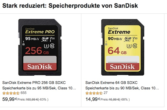 EU Deal Extended: Save On SanDisk Memory Cards At Amazon DE, UK And FR (more Items Available Now)