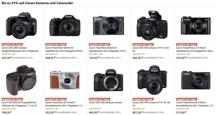 Germany/EU Deal: Save Up To 41% On Canon Cameras And Gear At Amazon DE