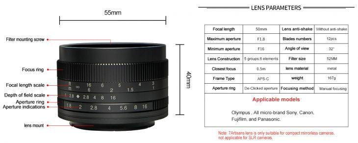7artisans 50mm